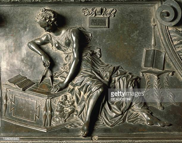 Geometry detail from the tomb of Sixtus IV 14841493 by Antonio Pollaiuolo bronze St Peter's Basilica Vatican City
