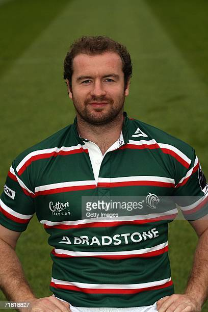 Geordan Murphy of Leicester Tigers poses during the Leicester Tigers Rugby Club Photocall at Welford Road on August 14 2006 in Leicester England