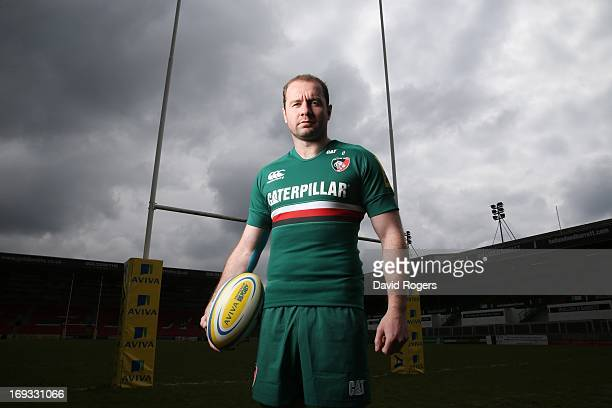 Geordan Murphy of Leicester Tigers poses for a portrait at Welford Road on May 17, 2013 in Leicester, England.