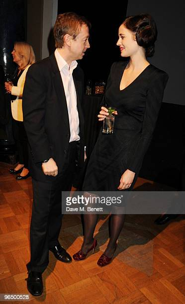 Geordie Greig and Eva Green attend the London Evening Standard British Film Awards 2010 at The London Film Museum on February 8 2010 in London England