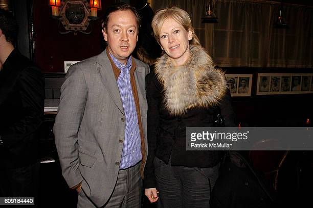 Geordie Greig and Joanna Coles attend CALVIN KLEIN COLLECTION Fall 2007 Post Show Dinner at The Waverly Inn Garden on February 8 2007 in New York City