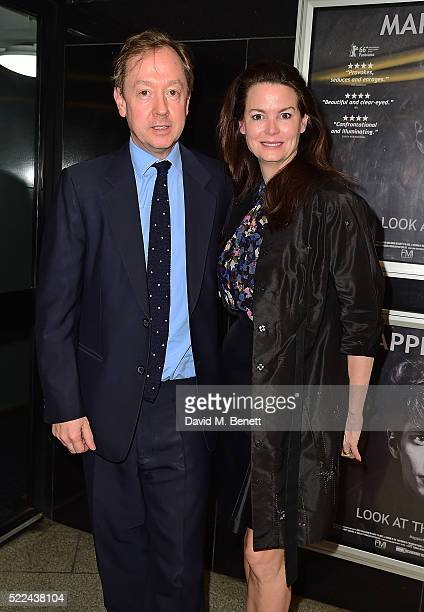 Geordie Greig and Kathryn Greig attend a VIP screening of Mapplethorpe Look At The Pictures a new documentary by Fenton Bailey at The Curzon Mayfair...