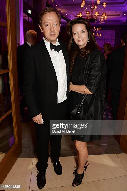 Geordie Greig and Kathryn Greig attend the Al Pacino BFI Fellowship Dinner supported by Moet Chandon at the Corinthia Hotel London on September 24...