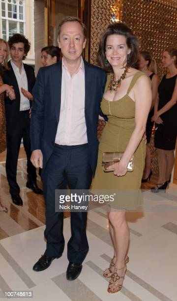 Geordie Greig and Kathryn Greig attend the launch of the Louis Vuitton Bond Street Maison on May 25 2010 in London England
