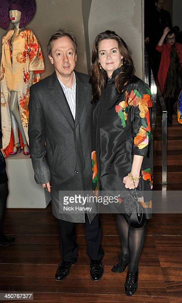 Geordie Greig and Kathryn Terry attend the private view of Isabella Blow Fashion Galore Party at Somerset House on November 19 2013 in London England