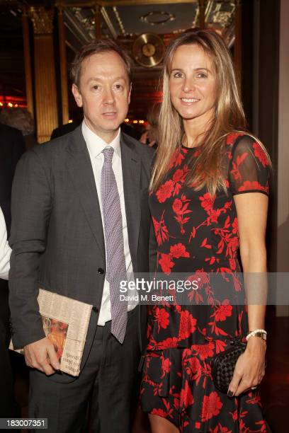 Geordie Greig and Lady Rothermere attend the launch of Geordie Greig's new book Breakfast With Lucian on October 3 2013 in London England