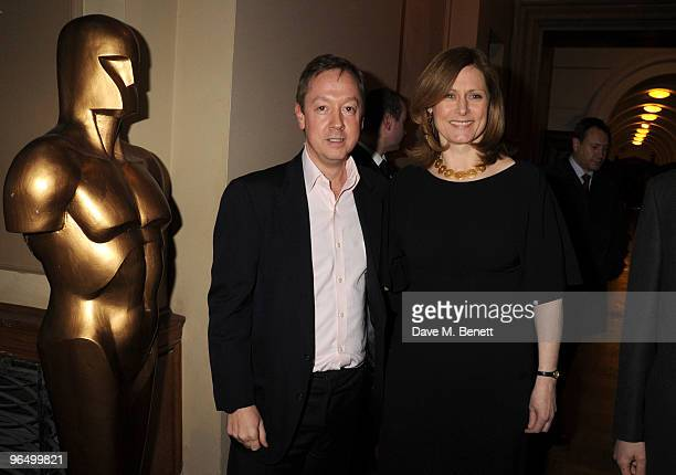 Geordie Greig and Sarah Brown attend the London Evening Standard British Film Awards 2010 at The London Film Museum on February 8 2010 in London...