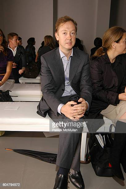 Geordie Greig attends CALVIN KLEIN COLLECTION Spring 2007 Fashion Show at Calvin Klein Inc on September 14 2006 in New York City