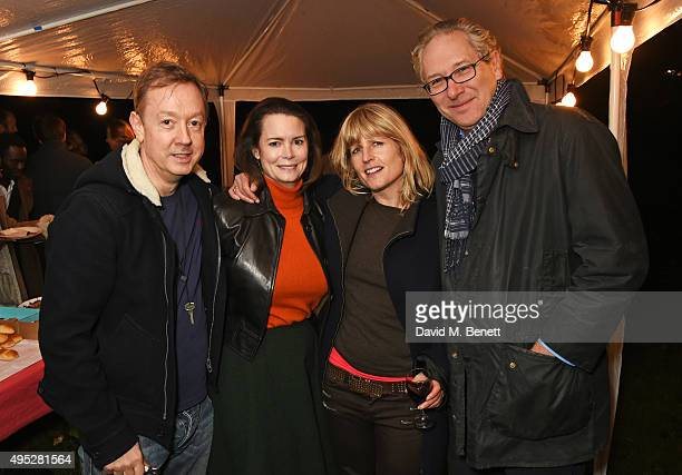 Geordie Greig Kathryn Greig Rachel Johnson and John Witherow attend the Stanley Crescent Guy Fawkes Party in Notting Hill on November 1 2015 in...