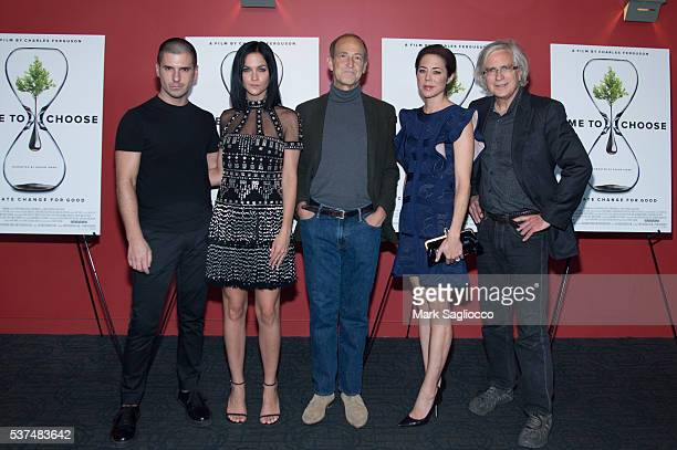Geordon Nichol Leigh Lezark Filmmaker Charles Ferguson Producer Audrey Marrs and Guest attend the 'Time To Choose' New York Screening at Landmark's...