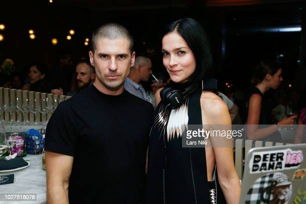 Geordon Nicol and Leigh Lezark attend the Bluebird London New York City launch party at Bluebird London on September 5 2018 in New York City