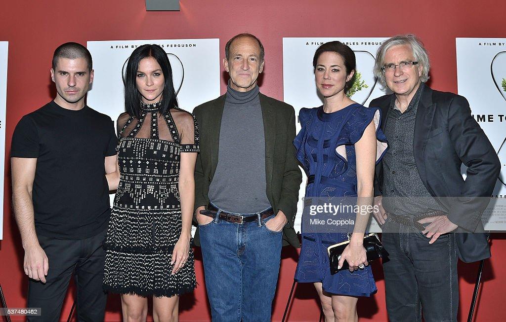 Geordon Nicol, Leigh Lezark, Charles Ferguson, Audrey Marrs and guest attend the 'Time To Choose' New York screening at Landmark's Sunshine Cinema on June 1, 2016 in New York City.