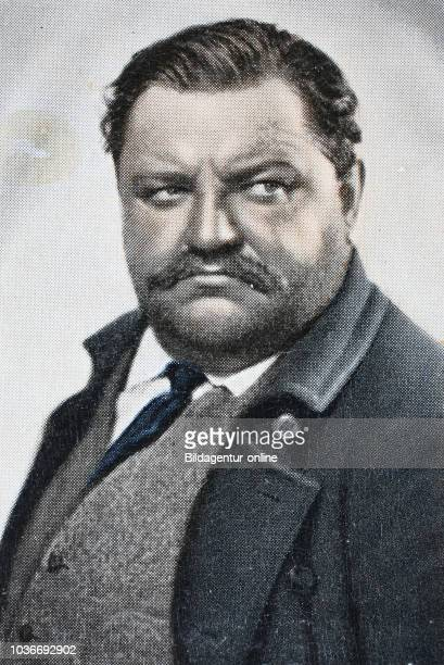 Georg August Friedrich Hermann Schulz , better known as Heinrich George, was a German stage and film actor, digital improved reproduction of an...
