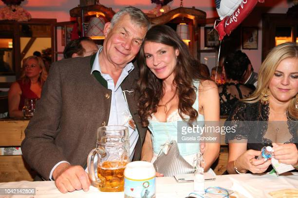Georg Bogner Andrea Dibelius during the Oktoberfest 2018 at Kaeferschaenke tent at Theresienwiese on September 27 2018 in Munich Germany