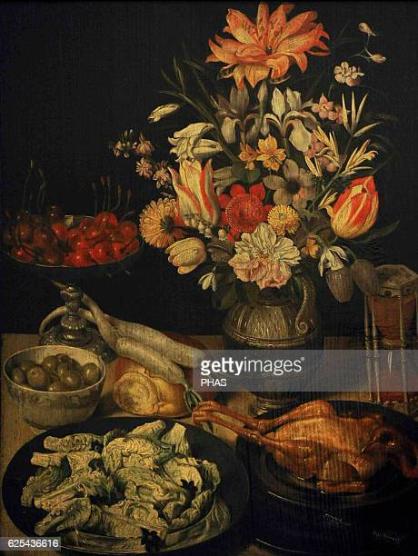 Georg Flegel German painter Still Life with Flowers and Snacks 16301635 Oil on panel The State Hermitage Museum Saint Petersburg Russia