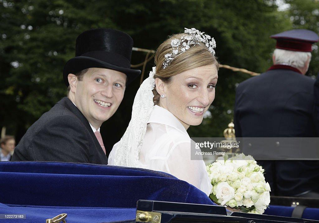 Georg Friedrich Ferdinand Prince Of Prussia And Princess Sophie Of Isenburg Wedding : News Photo
