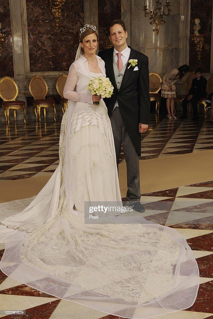 Georg Friedrich Ferdinand Prince Of Prussia And Princess Sophie Of Isenburg Wedding : Nachrichtenfoto
