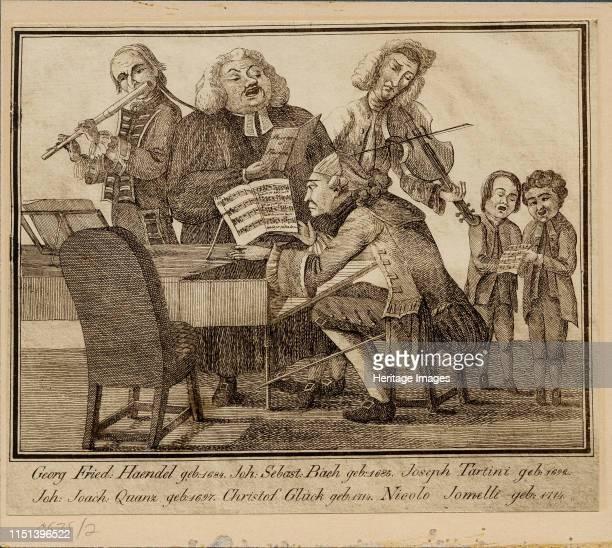 Georg Friedrich Haendel, Johann Sebastian Bach, Giuseppe Tartini, Johann Joachim Quantz, Christoph Willibald Gluck and Niccolò J. Private Collection....