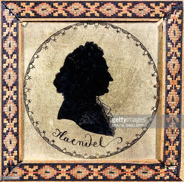 Georg Friedrich Händel , German composer. Silhouette.