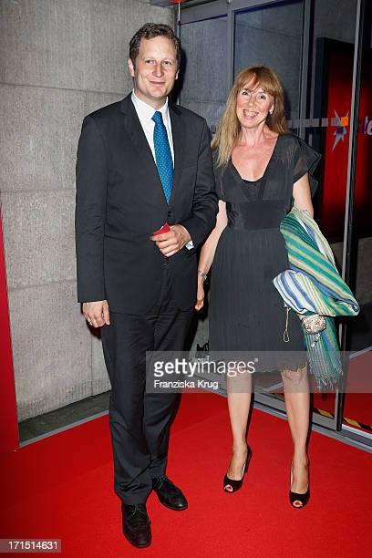 Georg Friedrich von Preussen and Maria Koteneva attend the 'Deutscher Gruenderpeis 2013' at ZDFZollernhof on June 25 2013 in Berlin Germany