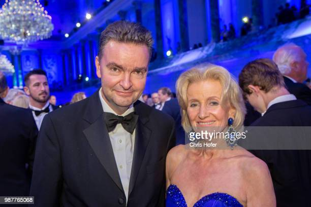 Georg HabsburgLothringen Elisabeth Guertler during the Fete Imperiale 2018 on June 29 2018 in Vienna Austria