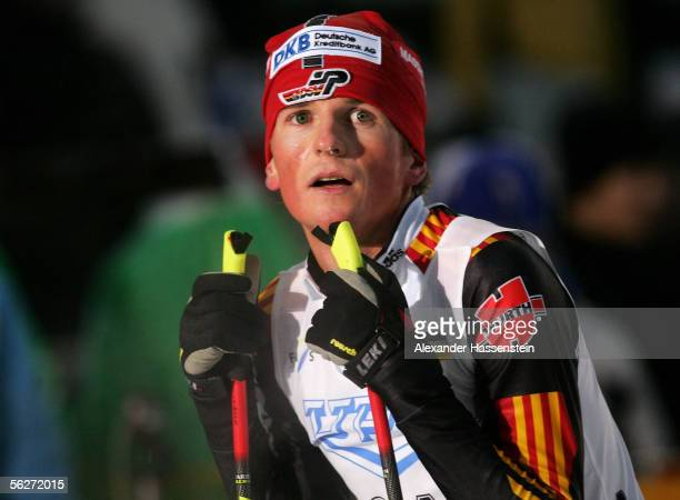 Georg Hettich of Germany looks on after the cross country race during the FIS World Cup on November 25, 2005 in Kuusamo, Finland.