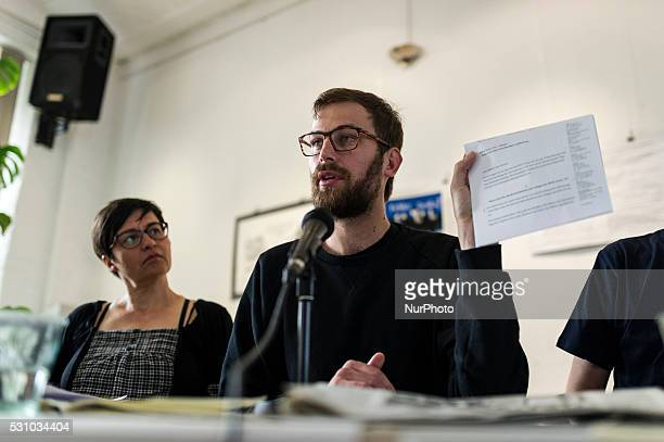 Georg Kossler during the press conference of Ende Gelande 2016 on May 11 2016 in Berlin Germany for stop coal and protect the climate in the Lusatia...