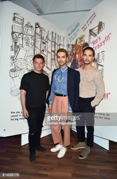 Georg Listing Bill Kaulitz and Tom Kaulitz attend the Cadillac House Opening at Deutsches Museum on July 13 2017 in Munich Germany
