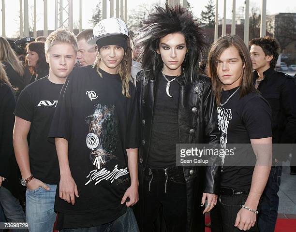 Georg Listing Bill Kaulitz Tom Kaulitz and Gustav Schaefer of the band Tokio Hotel attend the ECHO 2007 German music awards March 25 2007 in Berlin...