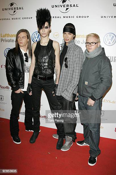 Georg Listing Bill Kaulitz Tom Kaulitz and Gustav Schaefer of the band Tokio Hotel attend the Universal Party after the MTV Europe Music Awards 2009...