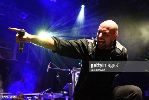 Georg Neuhauser of Serenity performs live on stage at KOKO on November 1 2017 in London England