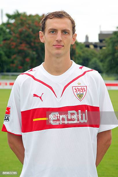 Georg Niedermeier poses during the 1st Bundesliga Team Presentation of VfB Stuttgart on July 10 2009 in Stuttgart Germany