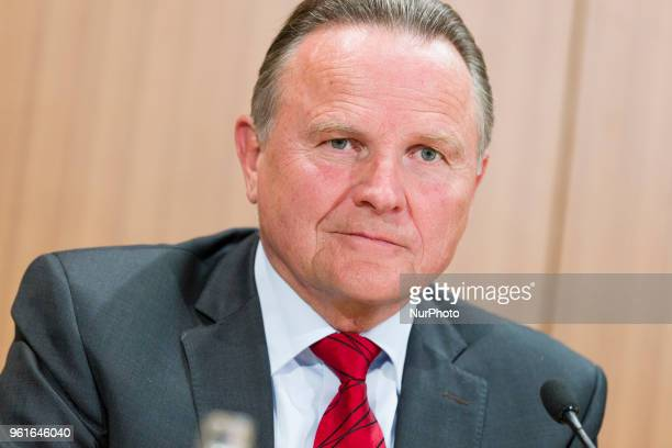 Georg Pazderski of Antiimmigration populist Alternative fuer Deutschland party is pictured during a press conference regarding an upcoming large...