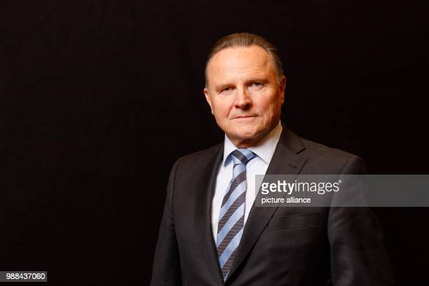 Georg Pazderski state chairman of the Alternative for Germany Berlin stands in a mobile photo studio in the course of the AfD's party conference at...