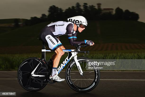 Georg Preidler of Austria and GiantShimano in action during the twelfth stage of the 2014 Giro d'Italia a 42km Individual Time Trial stage between...