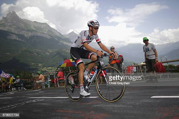 Georg Preidler of Austria and Team GiantAlpecin rides during stage eighteen of the 2016 Le Tour de France from Sallanches to Megeve on July 21 2016...