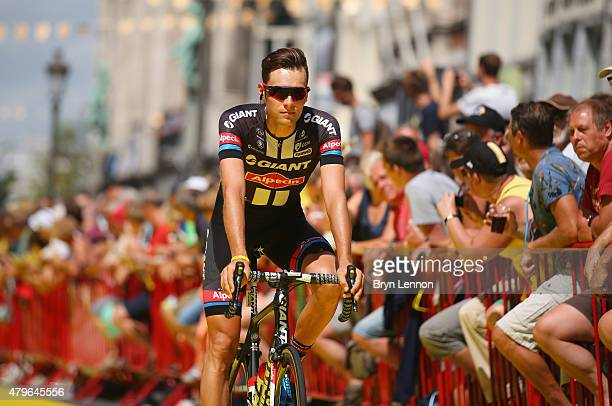Georg Preidler of Austria and Team GiantAlpecin rides past the crowd ahead of the start of stage three of the 2015 Tour de France a 1595 km stage...