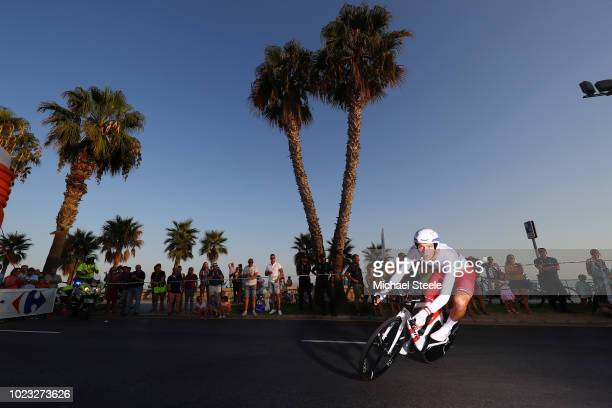 Georg Preidler of Austria and Team Groupama FDJ / during the 73rd Tour of Spain 2018 Stage 1 a 8km Individual Time Trial from Malaga to Malaga / La...