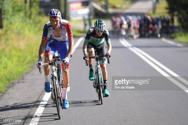 Georg Preidler of Austria and Team Groupama Fdj / Patrick Konrad of Austria and and Team BoraHansgrohe / during the 75th Tour of Poland 2018 Stage 4...