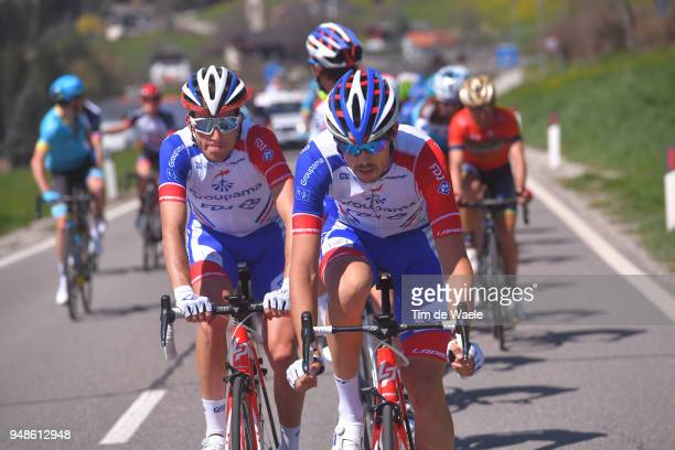 Georg Preidler of Austria and Team Groupama FDJ / Steve Morabito of Switzerland and Team Groupama FDJ / during the 42nd Tour of the Alps 2018 Stage 4...