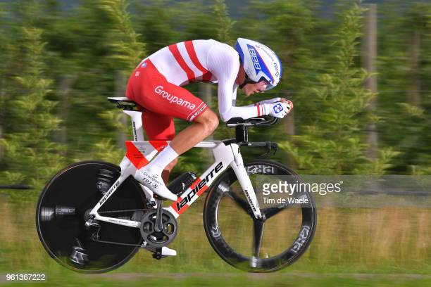 Georg Preidler of Austria and Team GroupamaFDJ / during the 101st Tour of Italy 2018 Stage 16 a 342km Individual Time Trial stage from Trento to...