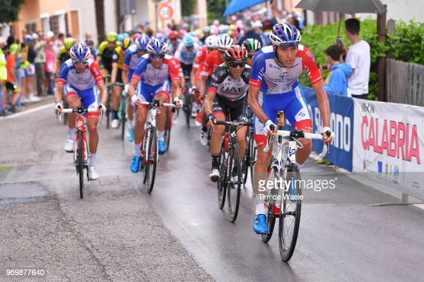 Georg Preidler of Austria and Team GroupamaFDJ / Valerio Conti of Italy and UAE Team Emirates / during the 101st Tour of Italy 2018 Stage 13 a 180km...