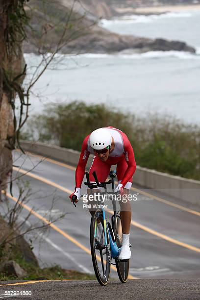 Georg Preidler of Austria competes in the Cycling Road Men's Individual Time Trial on Day 5 of the Rio 2016 Olympic Games at Pontal on August 10 2016...