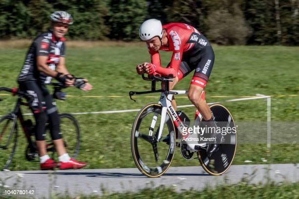 Georg Preidler of Austria during the Men Elite Individual Time Trial of UCI 2018 Road World Championships on September 26 2018 in InnsbruckTirol...