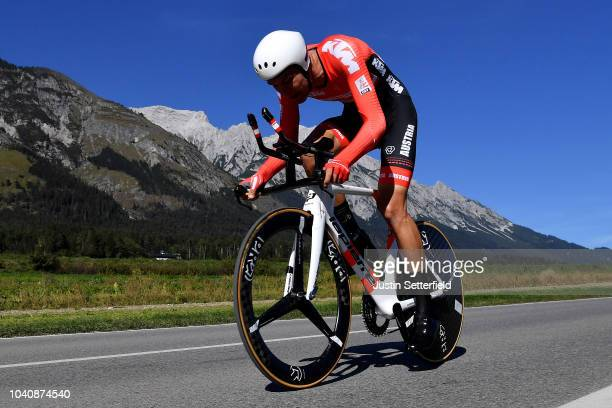 Georg Preidler of Austria / during the Men Elite Individual Time Trial a 525km race from Rattenberg to Innsbruck 582m at the 91st UCI Road World...