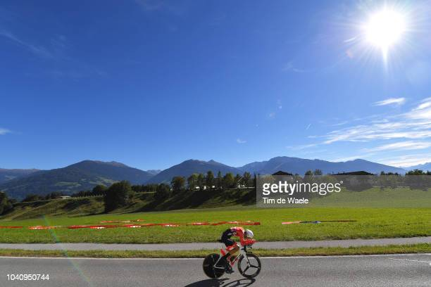 Georg Preidler of Austria / Landscape / Mountains / during the Men Elite Individual Time Trial a 525km race from Rattenberg to Innsbruck 582m at the...