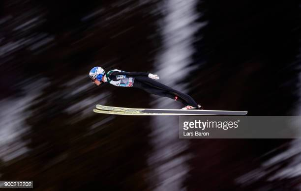 Georg Schlierenzauer of Austria competes on day 2 of the FIS Nordic World Cup Four Hills Tournament ski jumping event on December 29 2017 in...