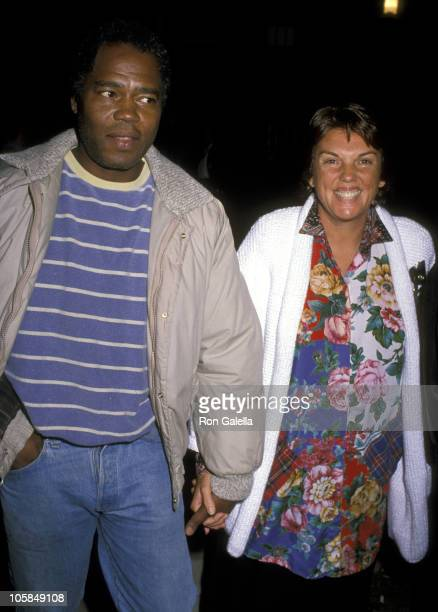 Georg Stanford Brown and Tyne Daly during Amnesty International Presents Human Rights Now Concert at Los Angeles Memorial Coliseum in Los Angeles CA...