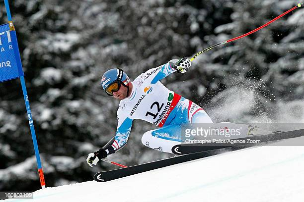 Georg Streitberger of Austria competes during the Audi FIS Alpine Ski World Championships Men's SuperG on February 06 2013 in Schladming Austria