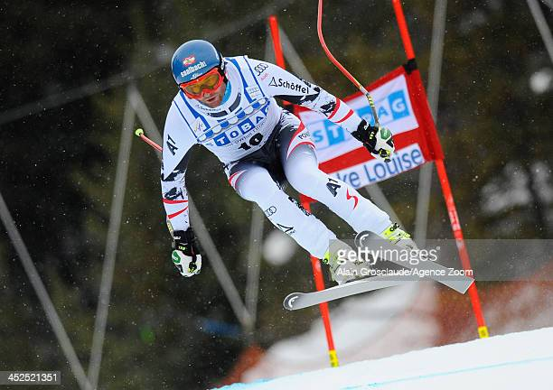 Georg Streitberger of Austria competes during the Audi FIS Alpine Ski World Cup Men's Downhill Training on November 29 2013 in Lake Louise Canada